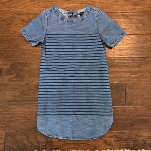 Gap denim striped dress